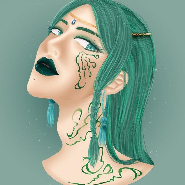 頭像練習-綠
