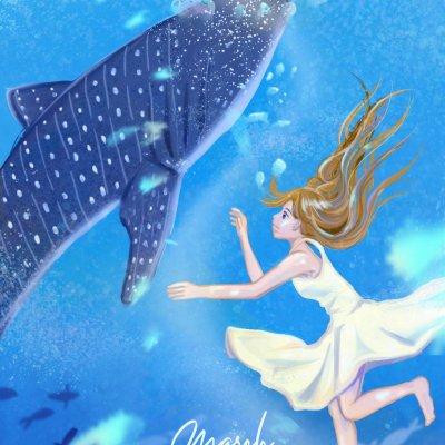 鯨鯊與女孩