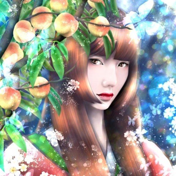 桃子樹下的公主