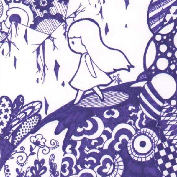 【奇異筆繪.紫色】