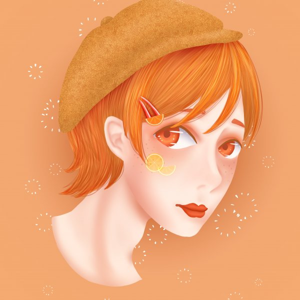 頭像練習-橘