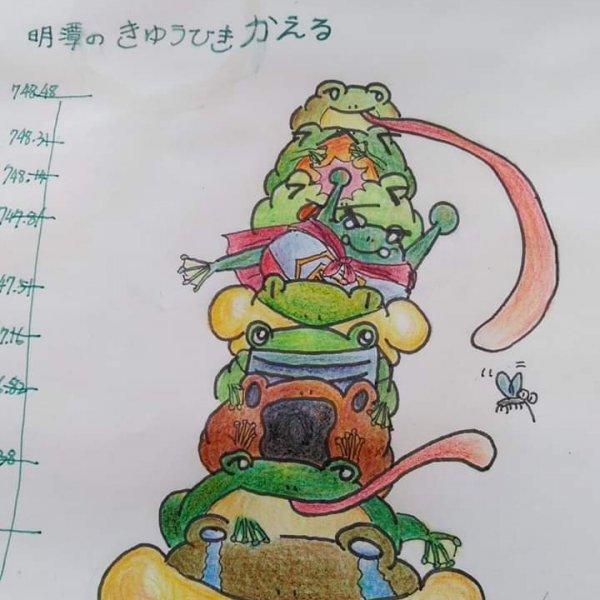 日月潭的九隻青蛙