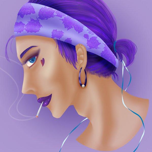 頭像練習-紫