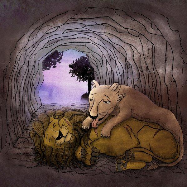獅子受傷了...