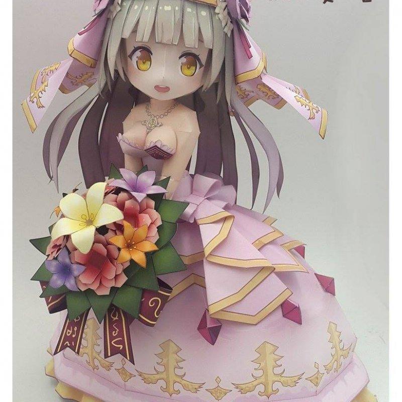 花嫁ルウシェ---白猫---紙模型